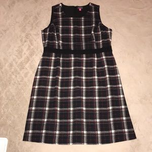 Vince Camuto sold out plaid dress 16W like new